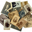 Stock Photo: Family history: stack of old photos