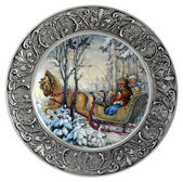 Decorative wall plate Winter — Stok fotoğraf