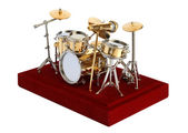 Miniature Drumkit on a white background — Stock Photo