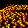 Llighted candles at night — Stock Photo #28690441