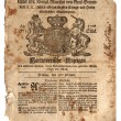 Stock Photo: Old British Trade Newspaper dated 1773