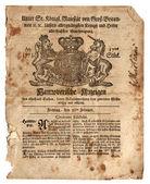 Old British Trade Newspaper dated 1773 — Stock Photo