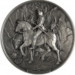 Stock Photo: Bas-relief Knight, Death and Devil