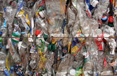 Recycling transparante flessen — Stockfoto