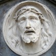 Bas-relief of Jesus Face — Stock Photo