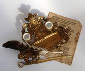 Bronze Antique desk set — Stock Photo