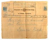Antique telegram — Stock Photo