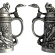 Antique pewter beer tankard — Stock Photo #38060927