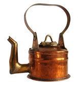 Antique copper teapot — Stock Photo