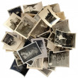 Family history: stack of old photos — Stock Photo #39860605