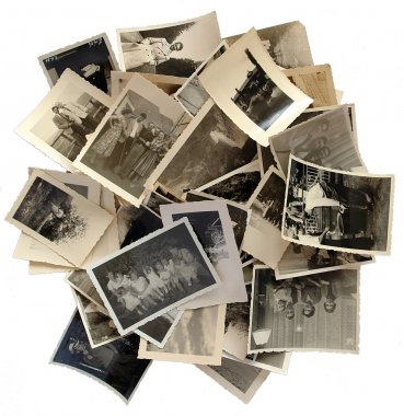 Family history: stack of old photos