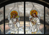 Stained Glass Angels — Stock Photo