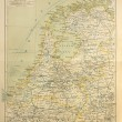 Old map of Netherlands — Stock Photo