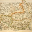 Old map of Bulgaria and Romania — Stock Photo #42863909