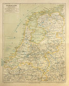Old map of Netherlands — Foto de Stock