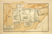 Old map of Olympia — Stock Photo