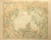 Old map of the Arctic Circle Lands  — Stock Photo