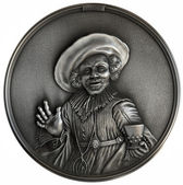 Bas-relief The Jolly Drinker — Stock Photo