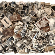 Lots of old black-and-white photos — Stock Photo #43144715
