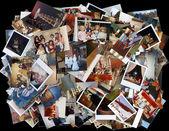 Viel farbe von alten fotos — Stockfoto