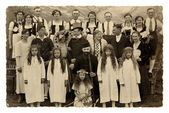 Vintage photo of theater actors  — Стоковое фото