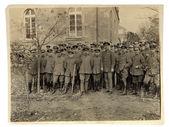 Foto vintage dos oficiais e soldados da primeira guerra mundial — Fotografia Stock