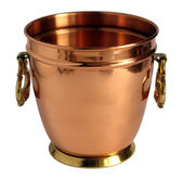 Old copper bucket for champagne — Stok fotoğraf