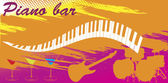 Piano bar — Stock Vector