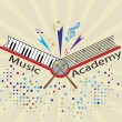 music academy — Stock Vector