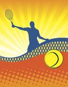Sunny tennis — Stock Vector