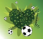 Football heart — Stock Vector