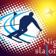 Night slalom — Stock Vector