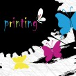 Vector de stock : Color printing
