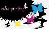 Color printing — Vector de stock