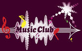Music Club — Stock Vector