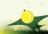 Abstract green tennis background — Vector de stock