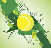 Green tennis court — Vecteur