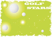 Golf stars — Stock Vector