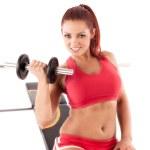 Beautiful fitness woman — Stock Photo