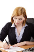 Business woman in the office — Stock Photo