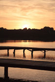 Sonnenuntergang auf dem see — Stockfoto