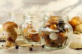 Mushrooms marinated in vinegar — Stock Photo