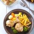 Chicken Drumsticks. Selective focus — Stock Photo