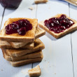 Breakfast with bread toast — Stock Photo #36063453