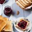 Breakfast with bread toast — Stock Photo #36064207