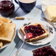 Breakfast with bread toast — Stock Photo #36064997