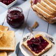 Breakfast with bread toast — Stock Photo #36065515