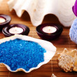 Spa, sea salt body care — Stock Photo