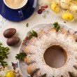 Easter marble ring cake — Stock Photo
