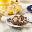 Stock Photo: Easter marble ring cake